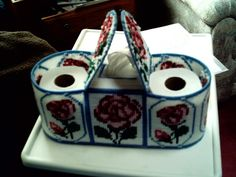 Plastic canvas TP and tissue holder