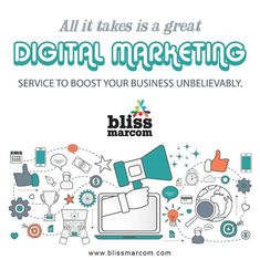 Offering a wide range of opportunities for businesses, digital marketing has become the sensation of this millennium! At Bliss Marcom, we employ the best online marketing strategies to promote your brand and services and boost business profit. Online Marketing Services, Online Marketing Strategies, Marketing Tactics, Marketing Training, Digital Marketing Strategy, Marketing Plan, Content Marketing, Internet Marketing, Social Media Marketing