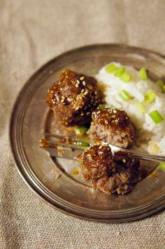 Meatballs in sticky sauce