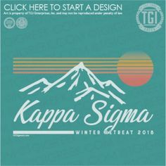 mountain sunset kappa sigma sun lines retro Delta Zeta, Sigma Kappa, Alpha Phi, Sorority Names, Sorority Outfits, Team Shirts, Cute Shirts, Fraternity Shirts, Mountain Sunset