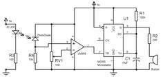 Dark Detecting LED Circuit Diagram | Pinned electronic circuits ...