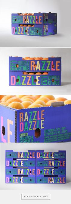 Razzle Dazzle fruits packaging design by FUTURA - http://www.packagingoftheworld.com/2016/10/razzle-dazzle.html