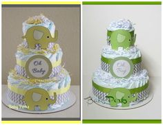 I will end up making multiple diaper cakes becuz they are all so cute - I love elephants!