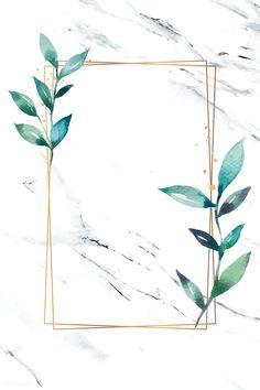 Phone Wallpaper Images, Framed Wallpaper, Aesthetic Iphone Wallpaper, Flower Background Wallpaper, Tropical Background, Watercolor Background, Green Watercolor, Watercolor Leaves, Leaf Outline