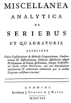 Miscellanea Analytica