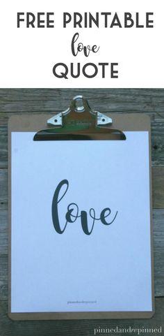 Free LOVE quote come
