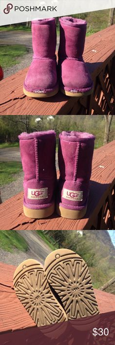 Toddler Pink Ugg Pre owned used.  In nice condition.  Scuffs stains like usual for used item. UGG Shoes Boots