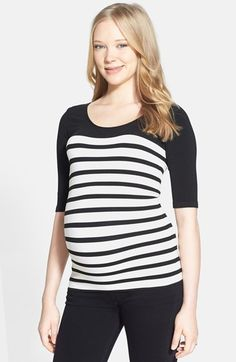 Tees by Tina 'St. Barts' Ballet Sleeve Maternity Top | Nordstrom