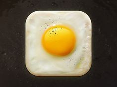 Fried Egg by CreativeDash. 18 Mouthwatering Food #App #Icons
