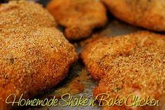 Homemade Shake n Bake Chicken - Mom's Kitchen Pantry