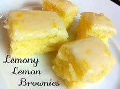 Lemon Bliss Lemon Brownies