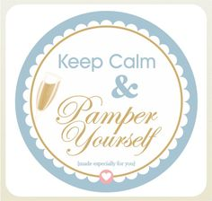 Keep Calm Pamper Yourself - Free Printable Pamper Party, Spa Party, Spa Cookies, All Things Cute, Nicu, Teacher Appreciation, Gift Baskets, Teacher Gifts, Free Printables