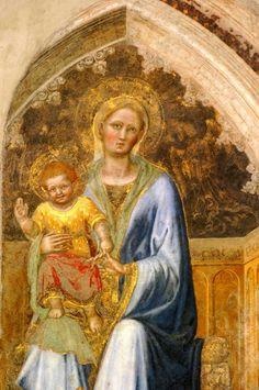 Orvieto (il Duomo):affresco di Gentile da Fabriano del 1425, una Madonna col Bambino, impreziosita dall'immagine eterea di un angelo.