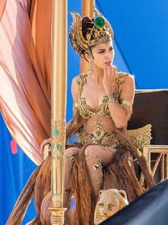Elodie Yung slips into sexy gold bodysuit in new film God's Of Egypt Elodie Yung, Gods Of Egypt Movie, Egyptian Goddess Costume, Egypt Wallpaper, Costume Sexy, Egyptian Beauty, Creative Costumes, French Actress, Movie Costumes