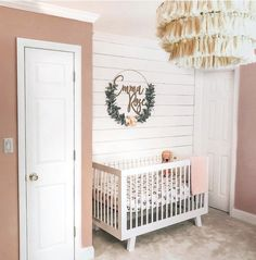 This particular simple nursery is unquestionably a stunning style principle. Nursery Letters, Nursery Signs, Nursery Wall Decor, Baby Room Decor, Nursery Ideas, Diy Nursery Furniture, Farmhouse Nursery Decor, Floral Nursery, Boho Nursery