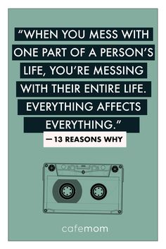 quote from the much-talked-about Netflix series Reasons Why' reminds us just how difficult navigating friendships, love, and adolescence in general can be (in case you'd blocked it out! 13 Reasons Why Reasons, 13 Reasons Why Netflix, Thirteen Reasons Why, Netflix Quotes, Movie Quotes, Netflix Series, Meaningful Quotes, Inspirational Quotes, Words Quotes