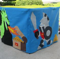 Felt Toy King's Castle Card Table Playhouse, Custom Order, Personalized, Includes A Crown for the King Card Table Playhouse, Kids Play Spaces, Daycare Spaces, Pirate Adventure, Table Tents, Sewing Cards, Dragon Party, Card Patterns, Table Cards
