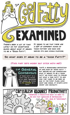 Good Fatty Examined. A great breakdown of stereotypes about fatness and questions they raise.