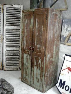 I love this old wooden locker just the way it is.