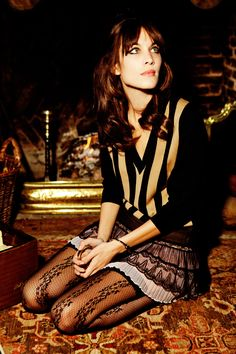 Alexa Chung | Photography by Ellen von Unwerth | For Vogue Magazine Italy | May 2011