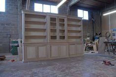 Libreria con corpo centrale avanzato legnoeoltre.altervista.org Falegnameria Grelli Danilo