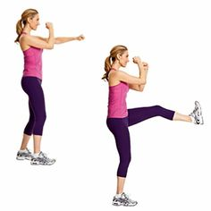 Cardio Blast workout from Cooking Light - great for travel