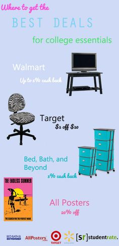 Get dorm decor at discount prices!