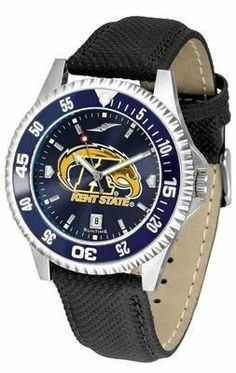 Kent State University Men's Leather Wristwatch by SunTime. $78.95. Adjustable Band. Officially Licensed Kent State Golden Flashes Men's Leather Wristwatch. AnoChrome Dial Enhances Team Logo And Overall Look. Men. Poly/Leather Band. College leather wristwatch with AnoChrome face. Kent State Golden Flashes wrist watch has functional rotating bezel color-coordinated with team logo. A durable, long-lasting combination nylon/leather strap, together with a date calendar, round out th...