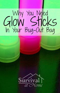 The topic of glow sticks is kind of controversial on prepper message boards, but I can give you tons of reasons why you need glow sticks in your bug-out bag!