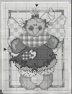 Schema punto croce Piccoli Angeli Patch 07