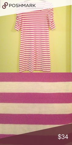 Lily Pulitzer striped t-shirt dress Lily Pulitzer striped t-shirt dress. Perfect basic to add to your summer wardrobe. Can be worn as a dress or makes a cute cover-up. Size Small. Lilly Pulitzer Dresses Mini