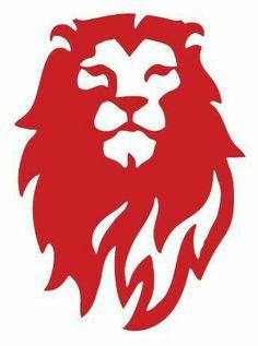 Red Lion Logo Lion head alone Stencil Animal, Lion Stencil, Stencils, Logo Lion, Lion Noir, Logo Animal, Logo Luxury, Shetland, Lion Images