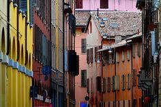 Colori di Bologna, via San Petronio Vecchio