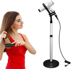 New CHRUNONE Hair Dryer Stand, 360 Degree Rotating Lazy Hair Dryer Stand Hand Free With Heavy Base, Hands-Free Blow Dryer Holder Countertop, Adjustable Height Hair Dryer Holder online - Aristalook Ag Hair Products, Amazon Beauty Products, Lazy Hairstyles, Elegant Hairstyles, Dryer Stand, Blow Hair, Hair Dryer Holder, Best Hair Dryer, Make Hair Grow