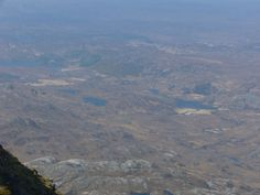 Glencanisp Lodge viewed from the summit of Suilven. Left corner by the Lochan.