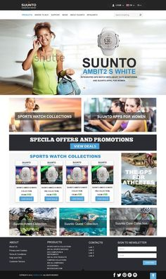 Inspire Suunto to design new mind blowing landing page - watches for active women by smashingdesigner