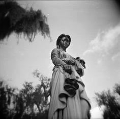 Analog Adventure To Bonaventure Tv Lighting, Bonaventure Cemetery, Haint Blue, Cemetery Art, Southern Gothic, Moon River, Spanish Moss, Types Of Art, Savannah Chat