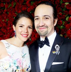 Vanessa Nadal and Lin-Manuel Miranda attend the 70th Annual Tony Awards.