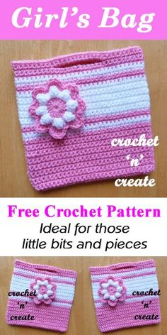 Little girls flower bag | free crochet pattern | #crochet