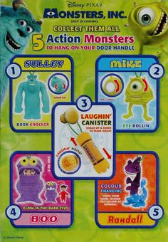 2002 Golden Nuggets Monsters Inc Hanging Action Monsters