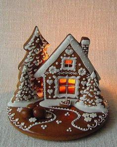 The most beautiful 26 Christmas cookies - Ünal Güler-food,recipes,dessert,deli. Gingerbread Dough, Christmas Gingerbread House, Christmas Sweets, Christmas Cooking, Christmas Goodies, Christmas Time, Gingerbread Houses, Gingerbread Decorations, Christmas Recipes