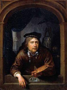 Self-portrait In A Window - Gerrit Dou (7 April 1613 – 9 February 1675), also…