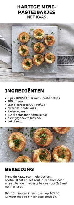 Inspiratie voor Midsommar - Hartige minipasteibakjes met kaas | #koken #keuken…