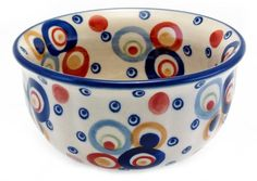 "4.5"" Bowls (Bubble Machine) High-Quality Polish Stoneware from the largest supplier in the western United States - The Polish Pottery Outlet in Englewood, CO"