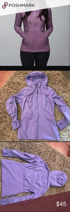 Lululemon dance studio lll reversible jacket Lululemon dance studio lll Versible jacket grapeseed color in very good condition no rips tears or stains zippers work really nice jacket lululemon athletica Jackets & Coats