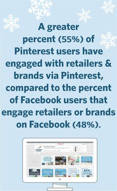 Pinterest holiday marketing fun fact: Customers spend more money when they convert from a Pinterest referral than any other social referral. Average order value for a Pinterest conversion is $80.54. Facebook, in second-place, is $71.26.