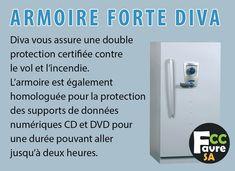 Armoire blindée Anti Feu Diva Protection certifiée contre le vol et l'incendie. #DIVA #ARMOIRE #ANTIFEU #POINTFORT #FICHET #GENEVE