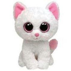 Bianca the cat: big eyes beanie baby.