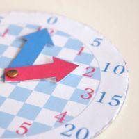 Une horloge pour apprendre à lire l'heure