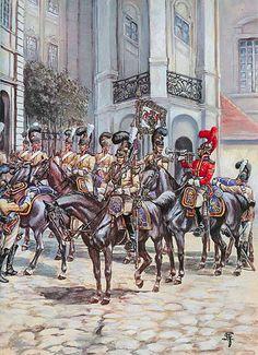 Le guardie del corpo sassoni a Borodino -  Patrice Courcelle & Jack Girbal